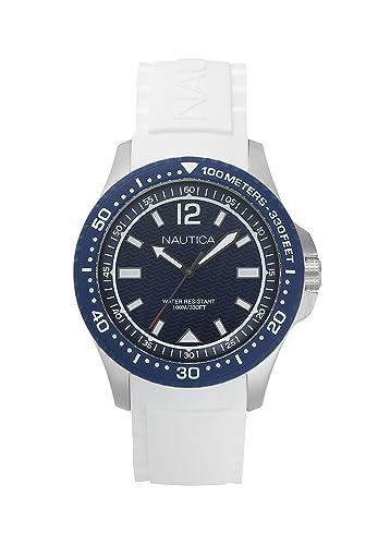 Nautica Reloj Analógico para Hombre de Cuarzo con Correa en Silicona NAPMAU004: Amazon.es: Relojes