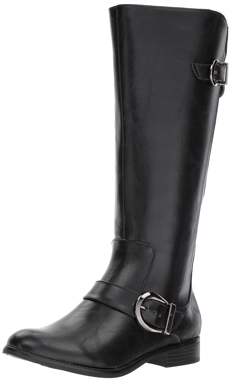 LifeStride Women's Rosaria Equestrian Boot B075FVS2PM 11 W US|Black