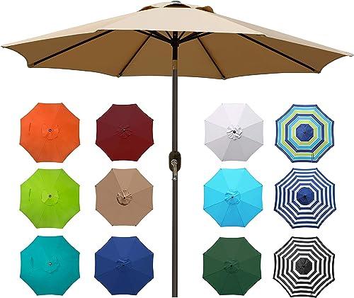 Blissun-9'-Outdoor-Market-Patio-Umbrella-with-Push-Button-Tilt-and-Crank