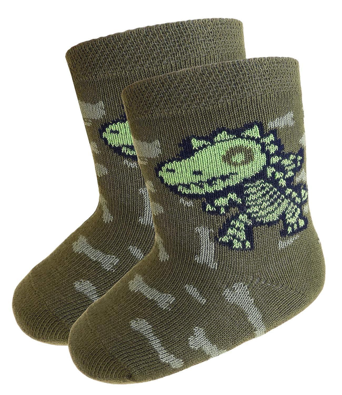 EveryKid Ewers 1er, 2er oder 3er Pack Jungensocken Sparpack Markensocken Socken Strü mpfe Sö ckchen Kleinkind ganzjä hrig Dino Skelett fü r Kinder (EW-205081-W18-JU3) inkl Fashionguide