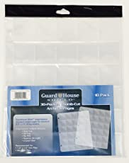 """30 Pocket """"Thumb-Cut"""" Coin Storage Pages for 1.5"""" x 1.5"""" Flips & Mini Coin Flips; Archival Polypropylene Pages by Guardhouse Shield - Pack of 10"""
