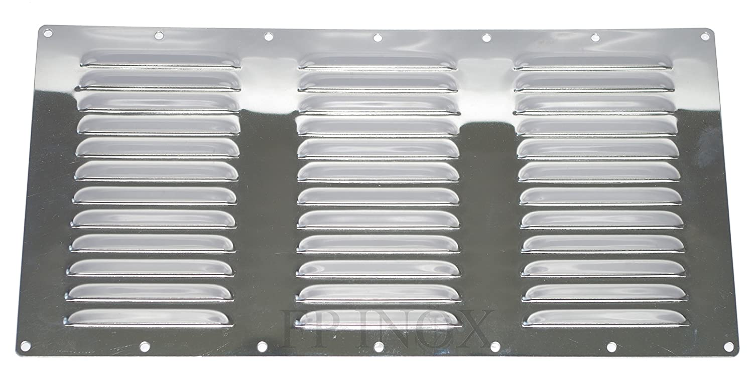 Ventilation Grill Rectangular 358 x 184 mm Stainless Steel A2 FP INOX