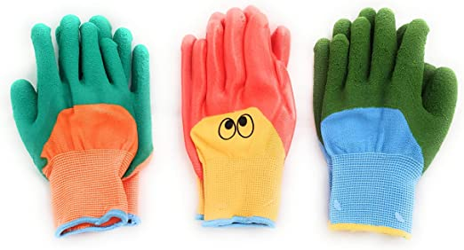 Expert Gardeners Canvas Gloves Two Pairs With Grip Dots Size M
