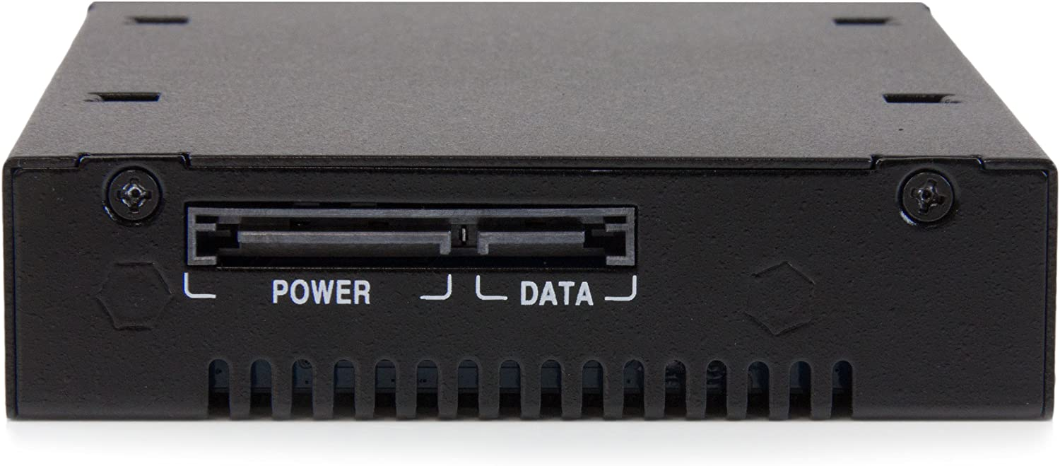 SATSASBP125 StarTech.com Mobile Rack Backplane for 2.5 SATA//SAS Drive Supports 5mm-15 mm SSDs//HDDs Hot Swap Vented Metal Enclosure