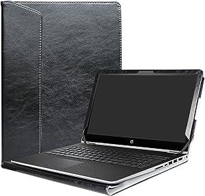 """Alapmk Protective Case Cover for 15.6"""" HP Pavilion x360 15 15-brXXX (Such as 15-BR077NR)/ 15-bkXXX (Such as 15-bk163dx) Laptop(Warning:Nit fit Pavilion x360 15 15-crXXX/Pavilion 15 Series),Black"""