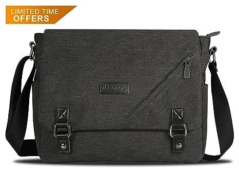 7dc7fbd8c1 ibagbar Water Resistant Messenger Bag Satchel Shoulder Crossbody Sling  Working Bag Bookbag Briefcase Fits 14 Inch. Leather Canvas ...