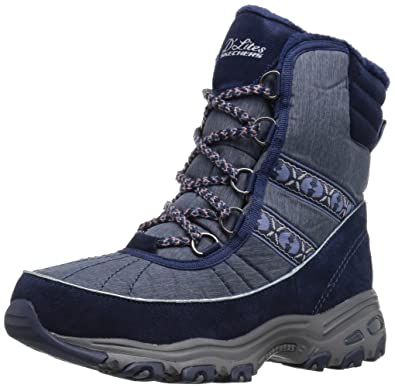 The Introduction In 2017 Skechers DLites Chateau Memory Foam Lace Up Winter Boot Navy