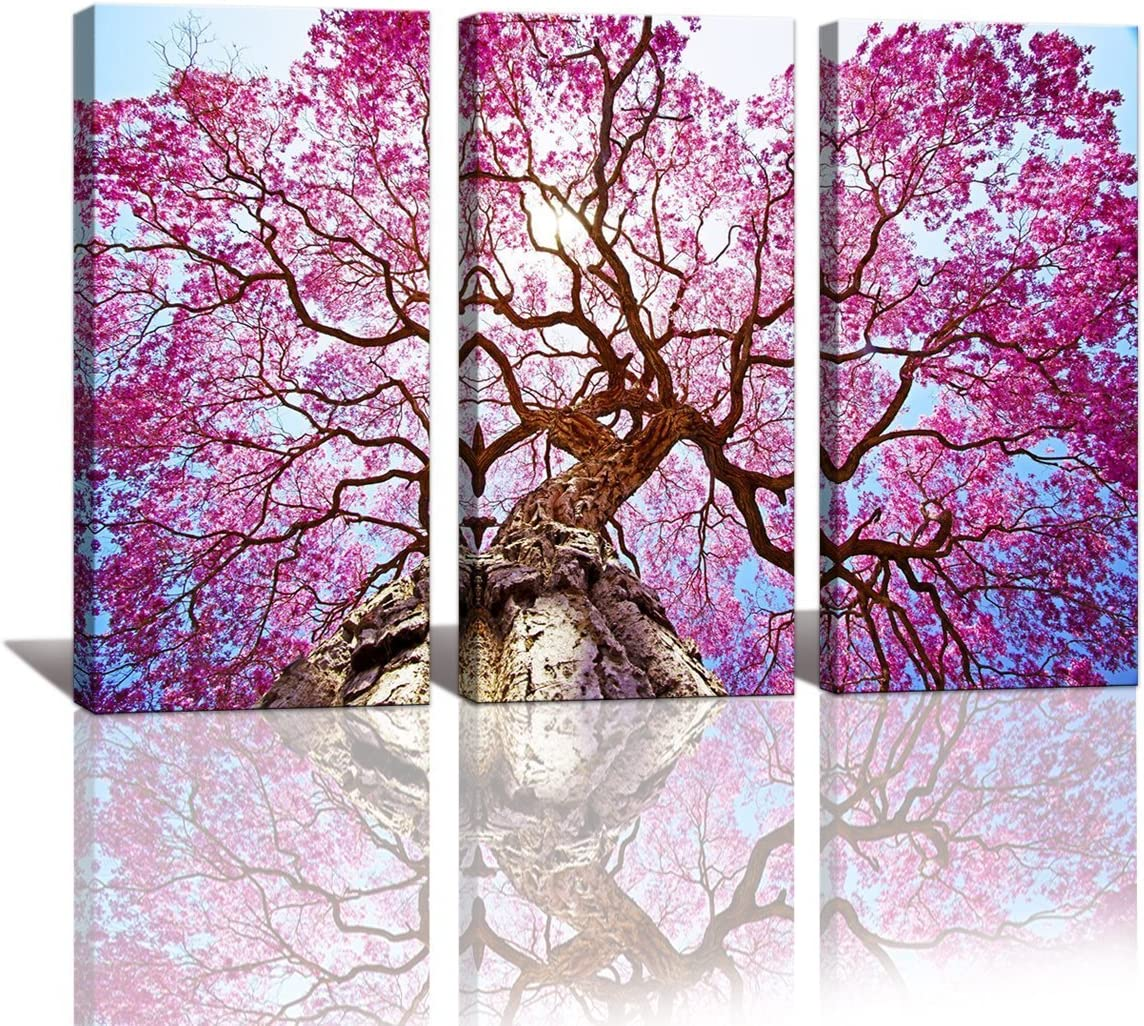yixuanwall art-canvas Prints,kx00888 Purple tree Wall Art oil Paintings Printed Pictures Stretched for Home Decoration