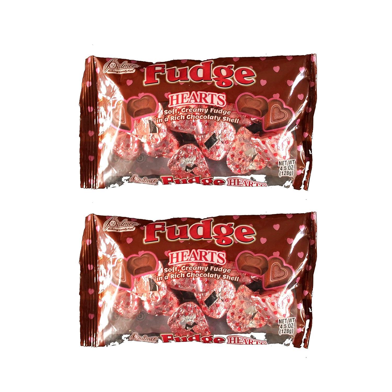 Palmer (2 bags) Fudge Hearts - Soft, Creamy Fudge in a Rich Chocolate Shell - 4.5 oz (128 g) - #081122