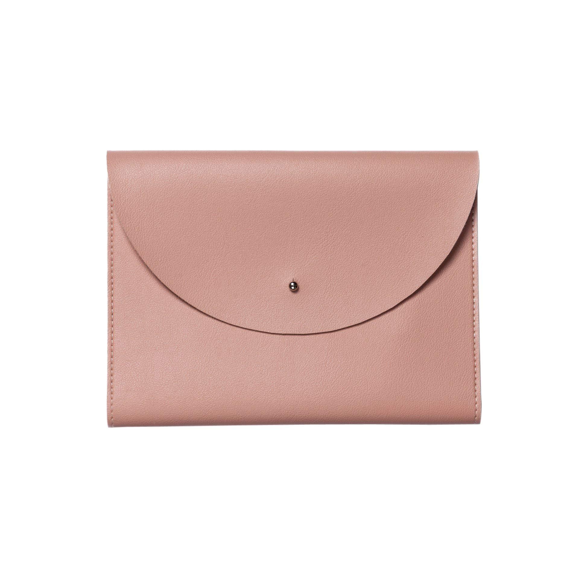 "Minimalist Folio Document Organizer & Notepad - Blush Pink - 9.25 x 7"" (Medium)"