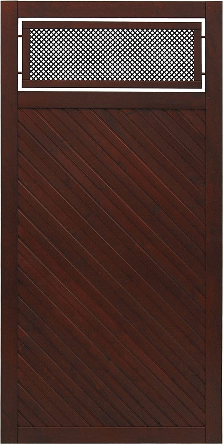 Andrewex wooden fence 180 x 90, varnished, brown, privacy, fencing panel