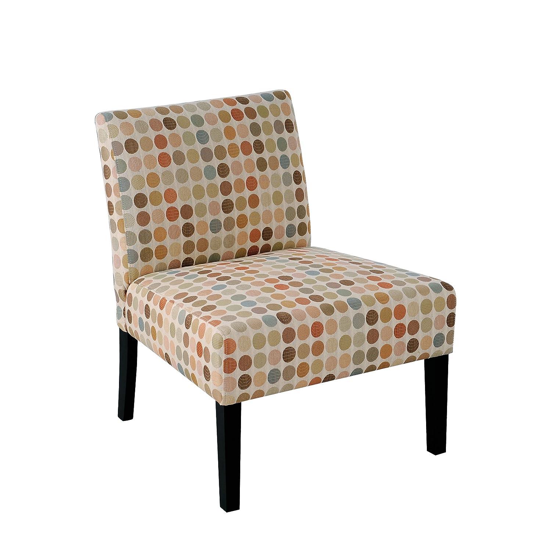 Handy Living 340C PEG99 083 Nate Armless Chair, Multicolored Retro Egg  Design