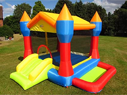 BeBop Fiesta Castillo Hinchable para niños: Amazon.es: Juguetes y ...
