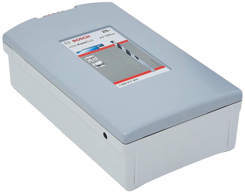 Paquete ProBox de 25 Unidades BOSCH 2608577352 Juego de Brocas HSS Twist PointTeQ