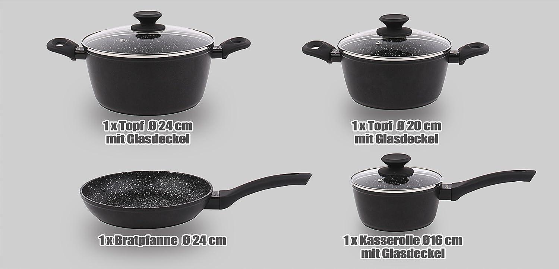 Eitelkeit Khg Töpfe Ideen Von F-/fset Kochset Mit Ilag Antihaft Marmor Beschichtung