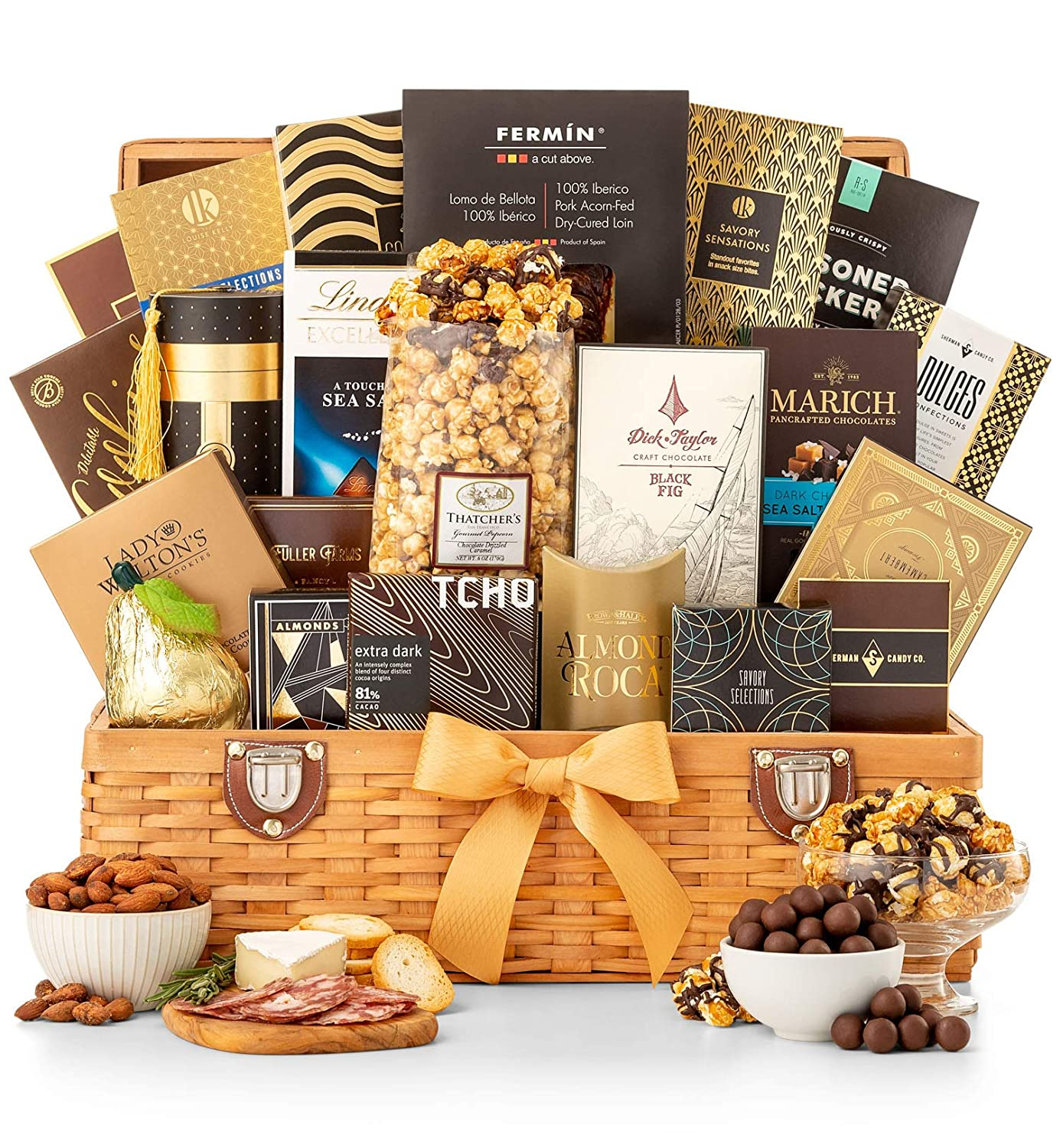 Amazon.com : GiftTree Grand Indulgence Gourmet Gift Basket | Savory Favorites and Sweet Indulgences | Perfect Gift For The Foodie In All Of Us : Grocery ...