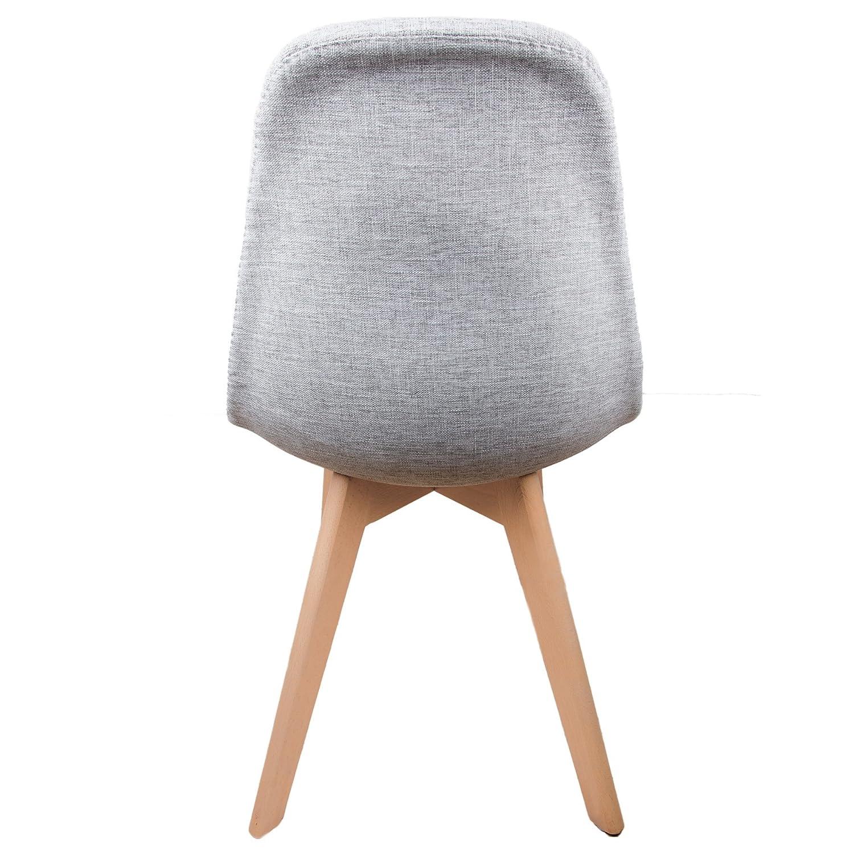 Chaise scandinave tissu gris amazon fr cuisine maison