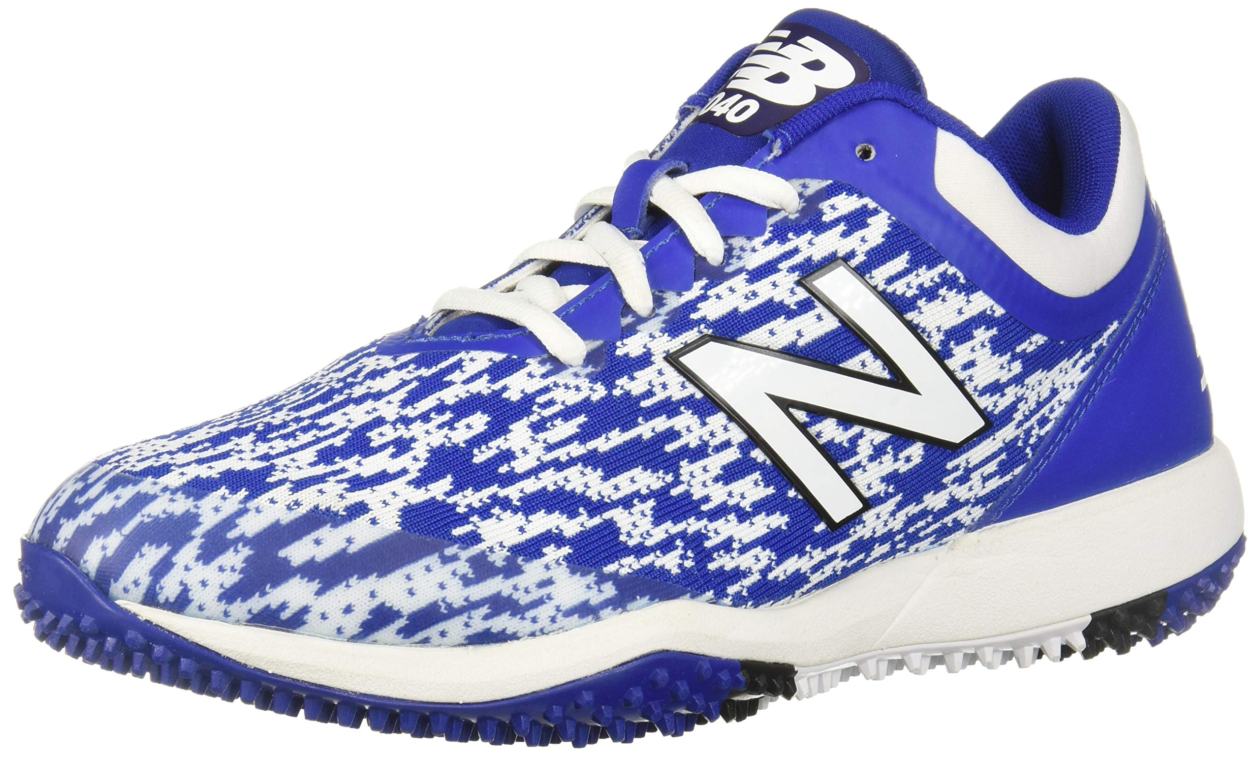 New Balance Men's 4040v5 Turf Running Shoe, Black/Royal, 5 D US
