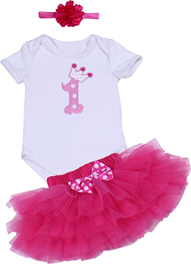 Luiryare Clothing Baby Girls Clothes Daddys Little Girl Romper Bodysuit Pink Skirt Headband 3Pcs Outfit Sets