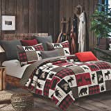 Quilt Bedding Set in King by Virah Bella - Lodge Life Printed Lightweight Reversible Quilt with 2 Matching Pillow Shams - Coz