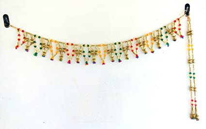 ed3caf30bcd Image Unavailable. Image not available for. Colour  Handicraft Handmade  Toran Traditional Door Hangings Home Decor - Diwali Decorative Item ...