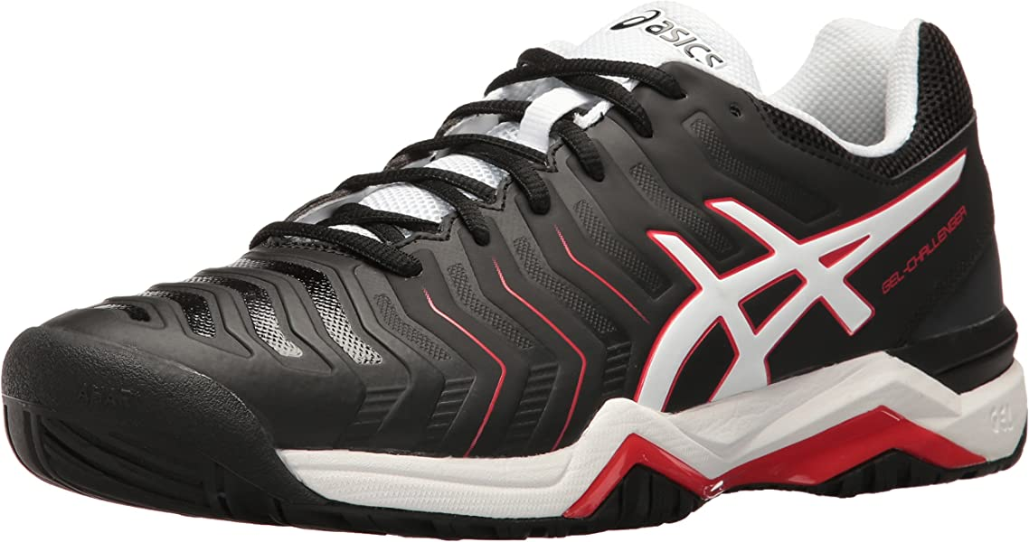 06a817a1da1d ASICS Men s Gel-Challenger 11 Tennis Shoe Black White Vermilion 15 ...