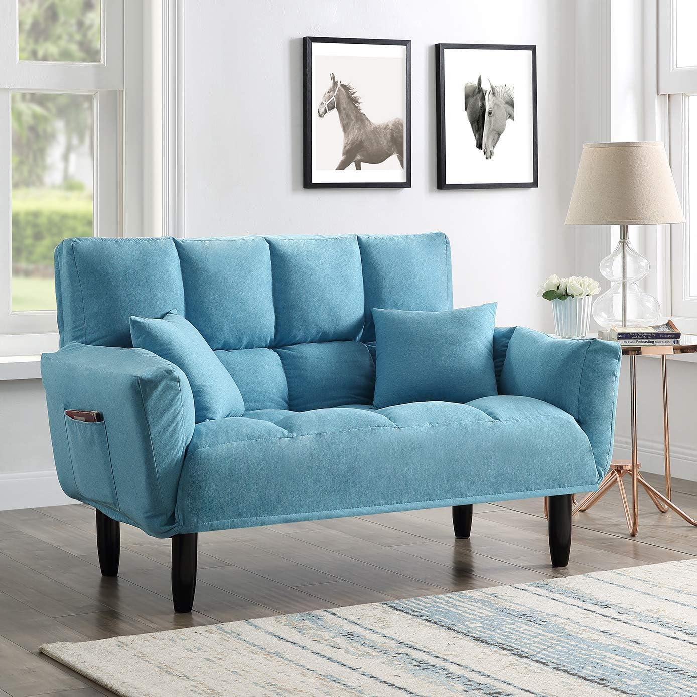 - Amazon.com: Sofa Couch Sleeper Sofa Contemporary Loveseat