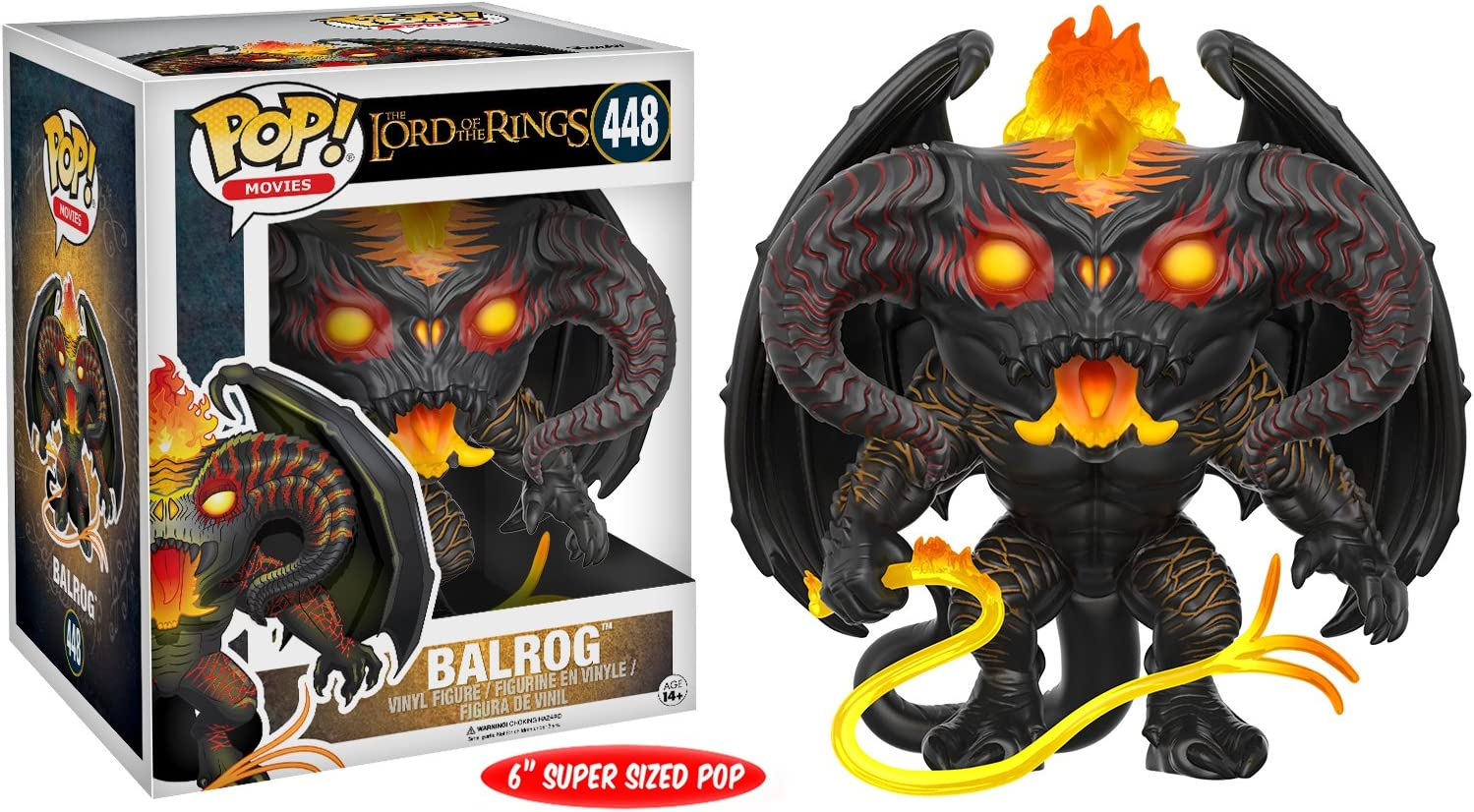 Movies Lord Of The Rings Balrog Oversized Vinyl Figure 15cm Funko POP