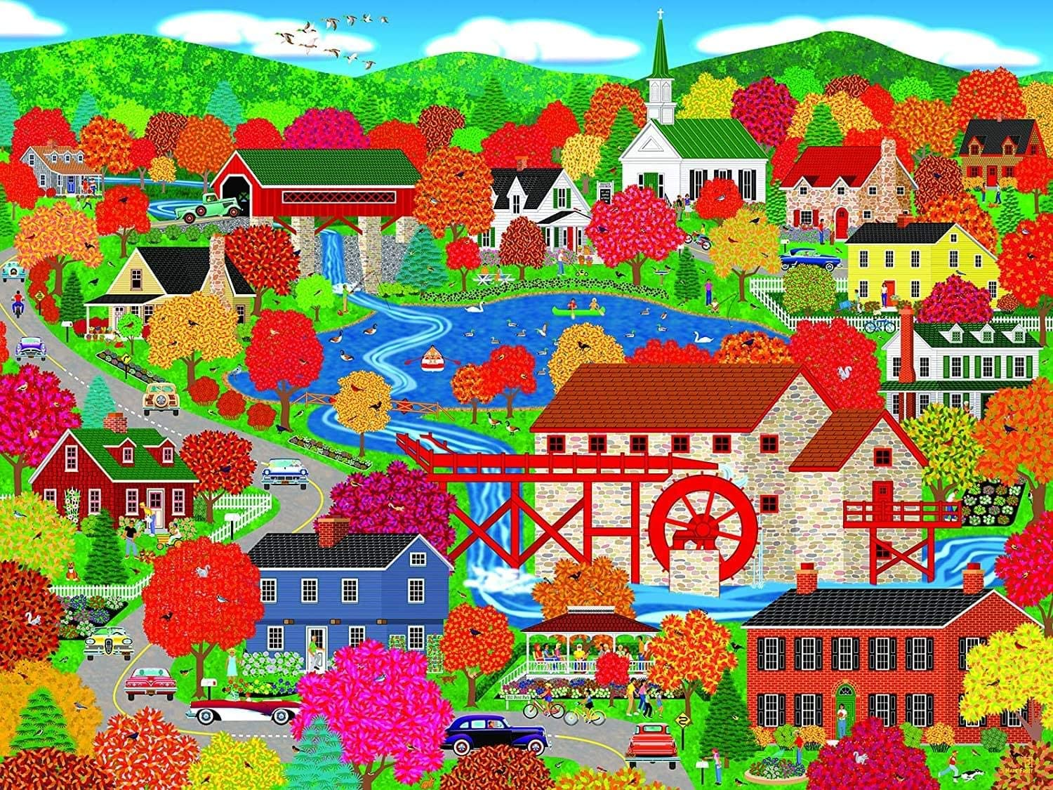 Old Mill Pond, Home Country Collection 1000 Piece Jigsaw Puzzle by Artist: Mark Frost
