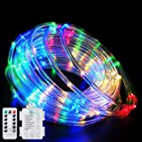 Fatpoom LED Rope Lights Battery Operated String Lights 40Ft 120 LEDs 8 Modes Outdoor Waterproof Fairy Lights Dimmable…