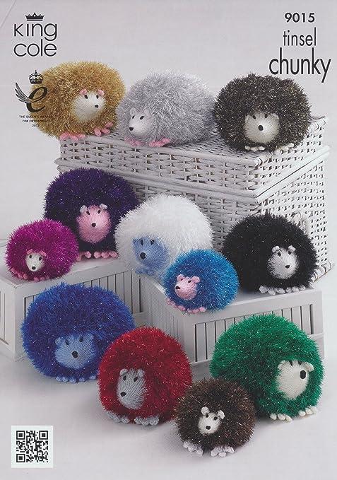 King Cole Hedgehog Toys Knitting Pattern 9015 Chunky Amazon