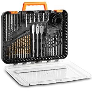 VonHaus 100-Piece Drill and Drive Bit Set with Titanium Coated HSS Bits and Storage Case for Drilling Metal, Wood, Masonry and Plastic