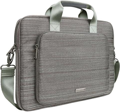 Architecture Construction Trellised Laptop Shoulder Messenger Bag Case Sleeve for 14 Inch to 15.6 Inch with Adjustable Notebook Shoulder Strap