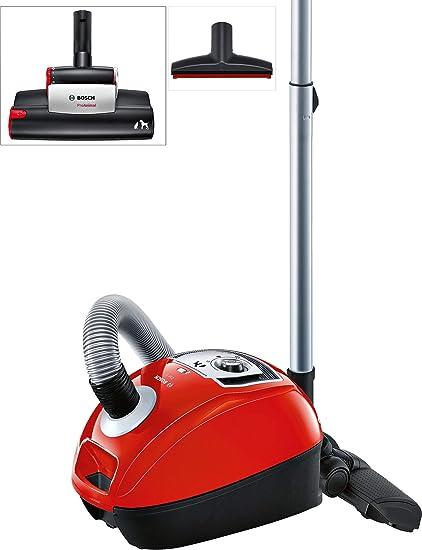 Bosch BGL4ZOOO GL40 Zooo Aspirador con bolsa, máxima recogida de pelo de animales, kit de accesorios Animal 360, color rojo: 175.68: Amazon.es: Hogar