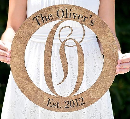 letter door hanger front door hanger wooden monogram wedding monogram personalized door