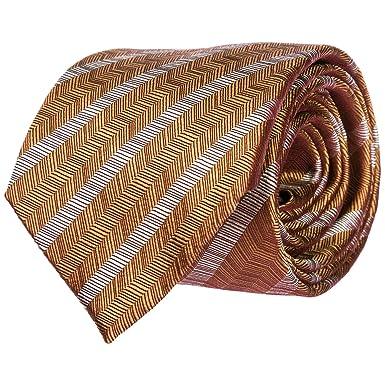 Emporio Armani corbata de hombre nuevo naranja: Amazon.es: Ropa y ...