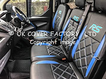 FORD TRANSIT CUSTOM TREND 2+1 2013 PRESENT FABRIC SEAT COVERS MADE TO MEASURE