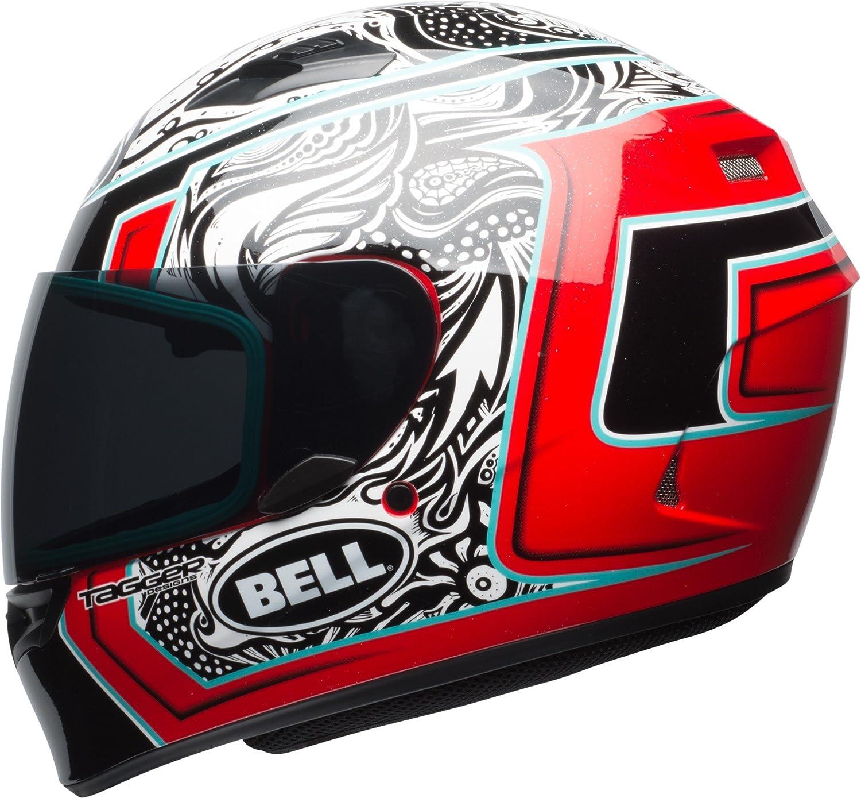 Gloss Black//Red//Titanium Blaze, Large Bell Qualifier Full-Face Motorcycle Helmet