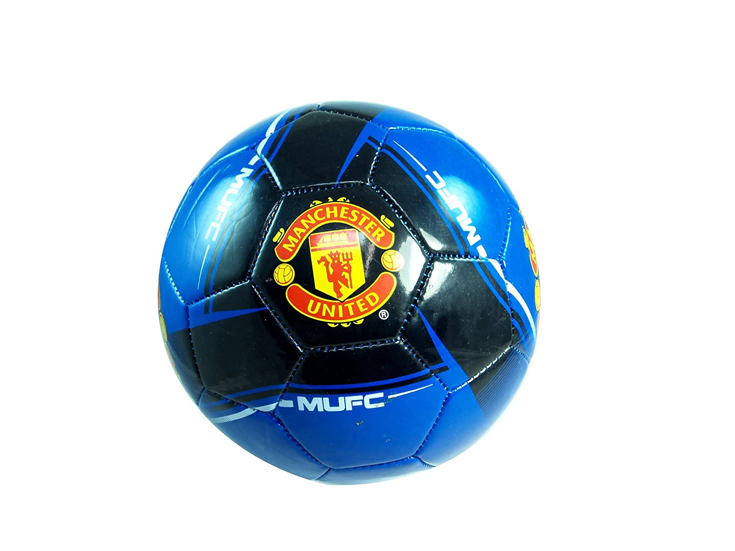 Rhinox Manchester United Official Size 5 Soccer Ball Blue//White