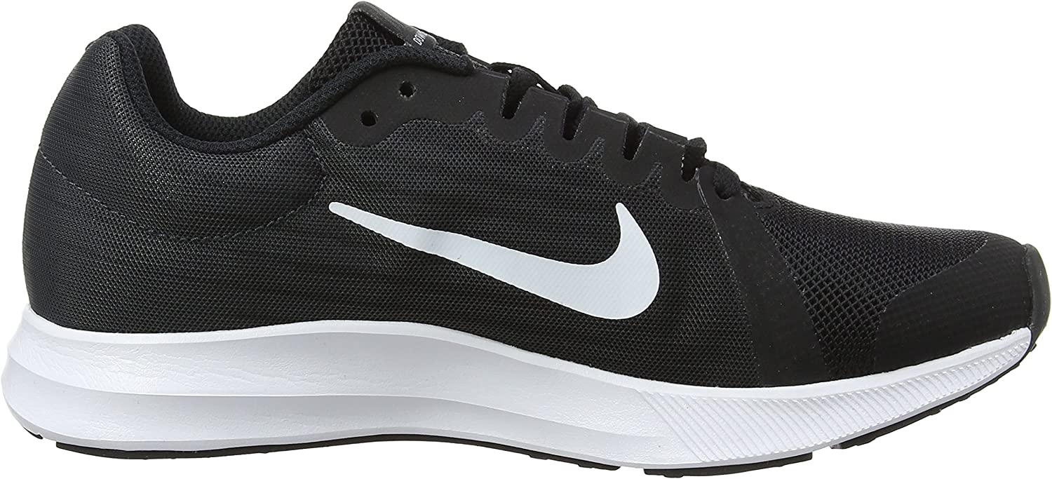 Nike 922853 001: Black White Downshifter 8 Big Kids Sneakers