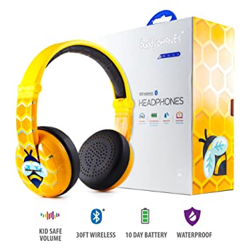Auriculares Wireless Bluetooth para niños - BuddyPhones Wave | Amarillo