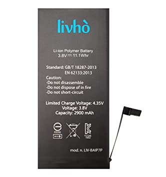 hot sale online 7f83d b2f60 livhò Replacement Battery compatible with iPhone 7 Plus: Amazon.co ...