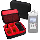 DURAGADGET Protective EVA Case (in Red) for the Zoom H1, Zoom H2N, Zoom H4n Pro, Zoom H5 & Zoom H6 Voice Recorders