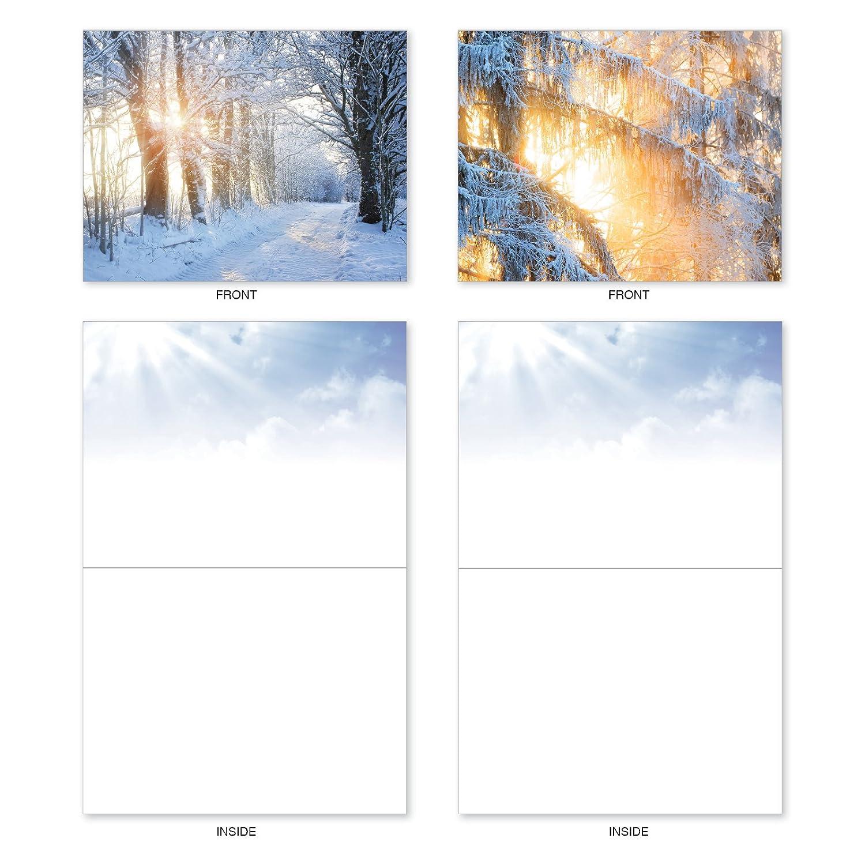 M6655XSB Christmas Sunrise 10 Assorted Blank Christmas Note Cards //Envelopes