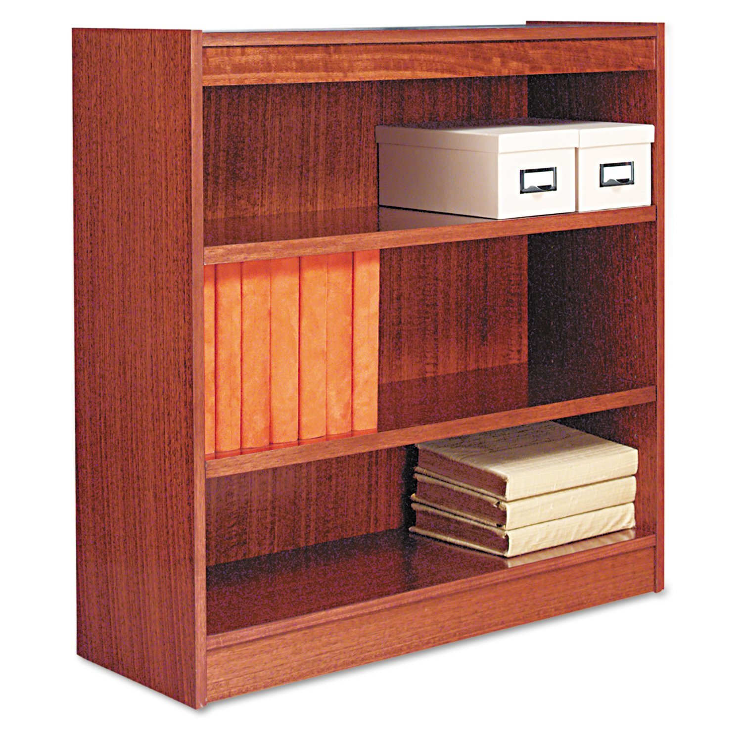 alera bcs my square corner wood veneer bookcase