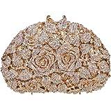 Fawziya Rhinestone Rose Clutch Purse For Party Handbags For Women
