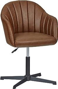 "Amazon Brand – Stone & Beam Modern Swivel Chair, 22.8""W, Brown"