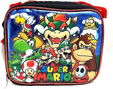 Super Mario Bros 3d aislado almuerzo caja bolsa Licensed Nintendo Luigi nuevo auténtico: Amazon.es: Hogar