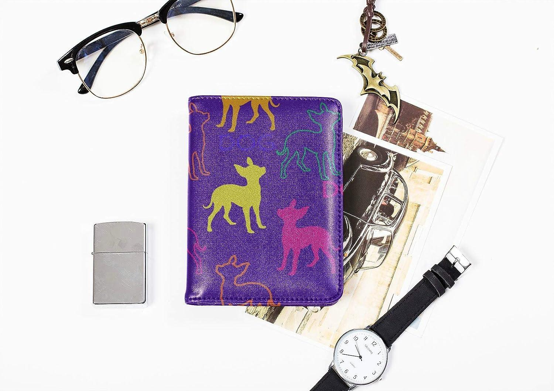 Boys Passport Case Cute Warm Heart Animal Pet Dog Passport Holder Hard Case Multi Purpose Print Personalized Leather Passport Holder Cover Travel Wallets For Unisex 5.51x4.37 Inch