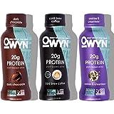 OWYN - 100% Vegan Plant-Based Protein Shakes | Dark Chocolate, Cold Brew, Cookies N Cream, 12 Fl Oz (Pack of 12) | Dairy…
